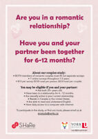 Early Relationships Study (LOOKING FOR PARTICIPANTS)