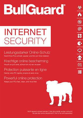 Bullguard Internet Security 3 PC 2017 - 1- Jahr  - Windows  / KEY / 2018 ready