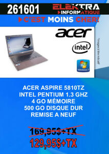 261601...ORDINATEUR PORTABLE ACER ( ASPIRE 5810TZ ) ..$129.95