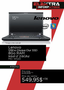 382152....ORDINATEUR PORTABLE LENOVO ...( 128 GO D.D ) ...$549.9