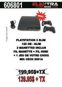 606801.....CONSOLE PLAYSTATION 3....$139.95