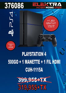 376086....CONSOLE PLAYSTATION 4....( 500 GO ) ....$319.95