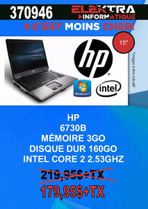 370946... ORDINATEUR PORTABLE HP .....$179.95