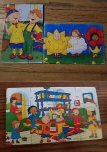 3 Caillou Wooden Puzzles