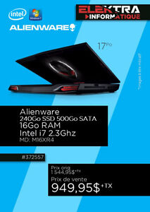 ORDINATEUR PORTABLE ALIENWATE INETL I7....$949.95
