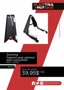 NEUF ....SUPPORT POUR GUITARE .....$39.95