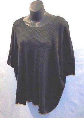 Bargain Practical Black WHITE STAG Plus Size 26W/28W  Rib Knit Top Acrylic Nylon (Plus Size Bargains)
