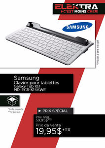 CLAVIER SAMSUNG POUR TABLETTE GALAXIE TAB 10.01 .....$19.95