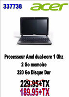 337738... ORDINATEUR PORTABLE ACER....$189.95