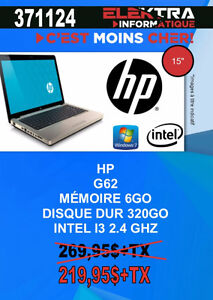 371124...ORDINATEUR PORTABLE HP....$219.95