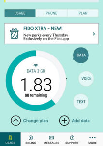 Free Fido data only plan $15-3GB data/month (UBC)