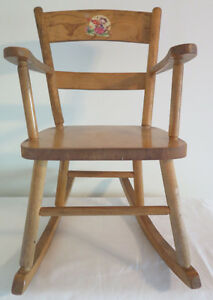vintage wooden child's rocker