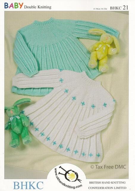 VAT Free Hand Knitting PATTERN ONLY DK Baby Child Girls Dresses BHKC21 New