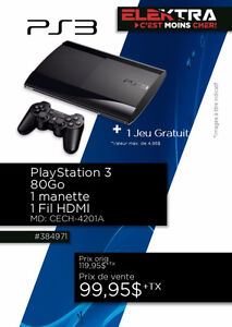 384497....CONSOLE PLAYSTATION 3...( 80 GO )....$89.95