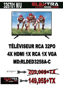 326701...TELEVISION RCA ( 32 POUCES ) 4 X HDMI ...$149.95
