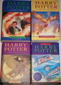 Qty 5 x Harry Potter HARD Cover Books, Prince, Phoenix, Prisoner