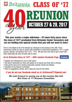 40th Anniversary Celebration for Britannia Class of 1977