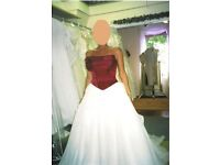 Wedding Dress (UNIQUE BODICE) for YOUR Summer Wedding - STUNNING, Reduced ! !