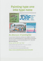 Painting type one into type none (JDRF fundraiser)