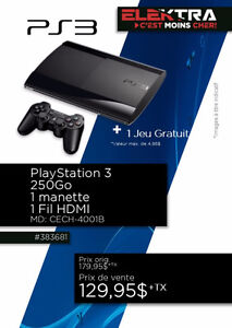 383681....CONSOLE PLAYSTATION 3....( 250 GO ) ...$129.95