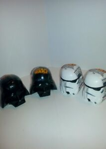 LOT OF 4 STAR WARS DARTH VADER & STORMTROOPER  HEADS SEALED