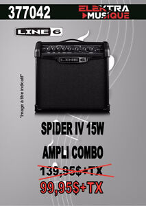 377042....AMPLIFICATEUR LINE 69 ( SPIDER 1V ) 15 WATTS $99.95