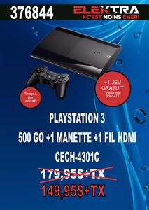 376844...CONSOLE PLAYSTATION 3....( 500 GO ) ...$149.95