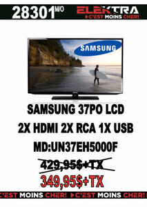 28301...TELEVISION SAMSUNG ..LCD / 37 POUCES ....$349.95