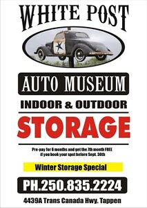 Winter Vehicle Storage  (Indoor and outdoor)