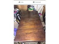 Old 1900 1920 pool snooker dining table