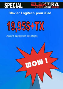NEUF....SPECIAL CLAVIER POUR IPAD.....$19.95