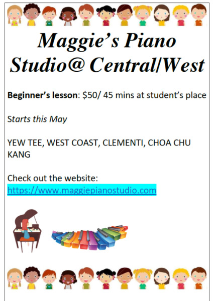 Professional and Experienced Piano Teacher-West Coast/Clementi
