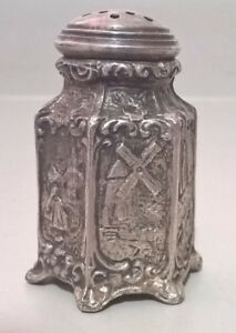 Antique WB Mfg. Co.Weidlich Bros. Dutch Scene Shaker