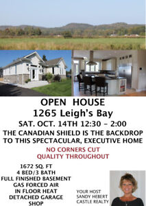 OPEN HOUSE SAT. OCT. 14TH 12:30 - 2:00