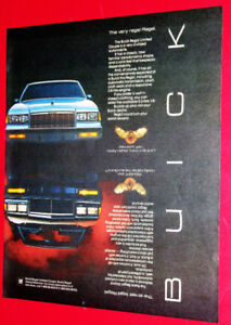 1986 BUICK REGAL LIMITED & GRAND NATIONAL GNX AD - ANONCE RETRO