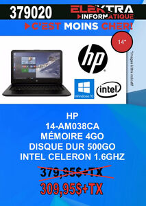 379020.....ORDINATEUR PORTABLE HP.....$309.95