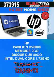 373915...ORDINATEUR PORTABLE HP.....$129.95