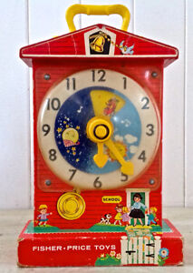 """Vintage 1964. Collection. Fisher Price. """"Teaching Clock"""""""