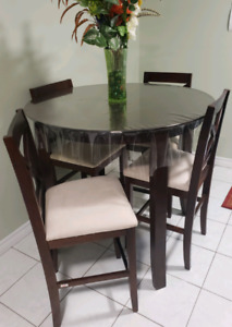 TV stand, LG 50 inch TV, Kitchen Table, Kitchen Bar Stools
