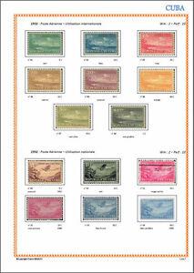 Album de timbre Cuba 1855-1970 à imprimer