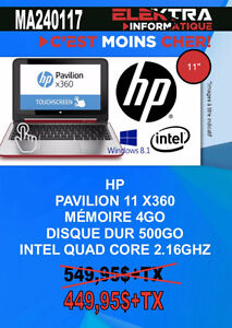 MA240117....ORDINATEUR PORTABLE HP ....$449.95