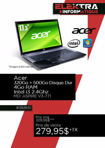 382651....ORDINATEUR PORTABLE ACER...( 320 GO ) ....$279.95