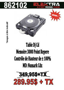 862102.....TABLE DE DJ  CD .........$289.95