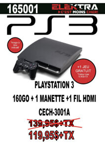 165001 ...CONSOLE  PLAYSTATION 3....( 160 GO ) ....$119.95
