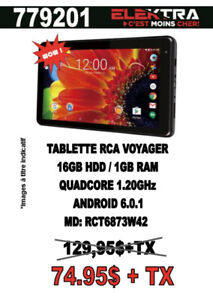 779201........TABLETTE RCA VOYAGER ....$74.95