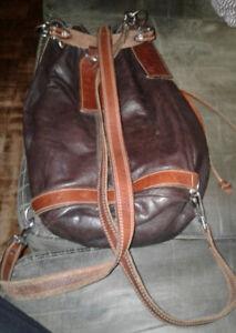 Ralph Lauren RUGBY bucket bag - brown leather