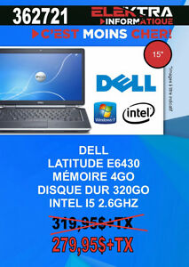 362721...ORDINATEUR PORTABLE DELL ...$279.95