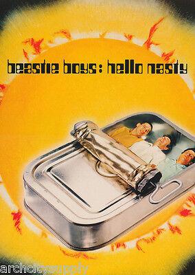 POSTER:MUSIC: RAP : BEASTIE BOYS - HELLO NASTY - YELLOW -  FREE SHIP      LW14 D