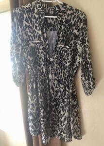 Leopard-Print Tunic Dress