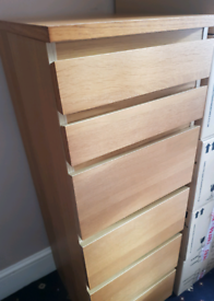 IKEA Tall Chest of 6 drawers with Mirror